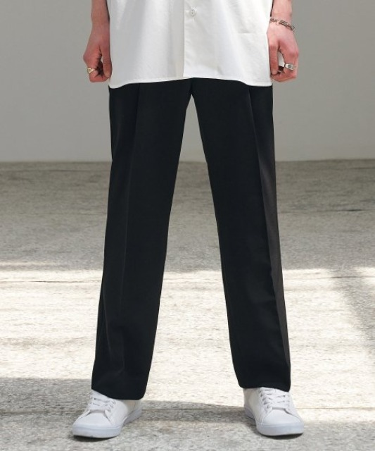 [에드] CHIC WIDE SLACKS_SS BLACK