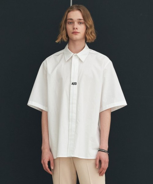 [에드] FOLDED PLACKET SHORT SLEEVE SHIRT WHITE