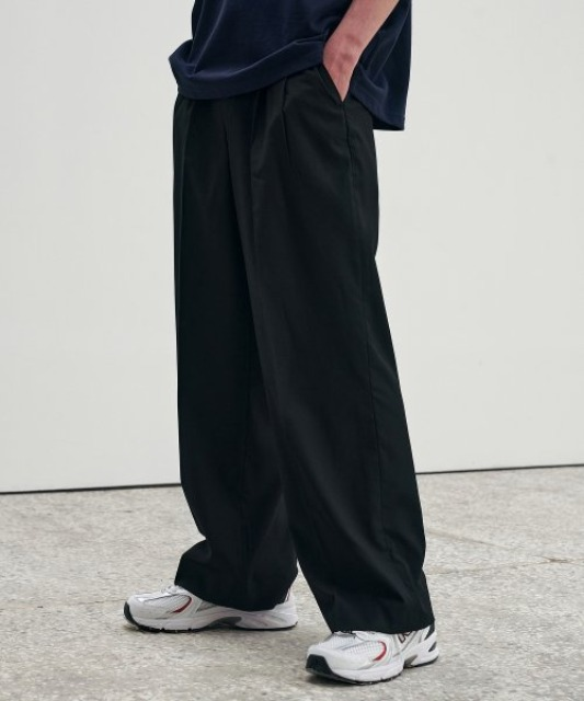 [에드] EXTRA SUPER WIDE SLACKS_SS BLACK