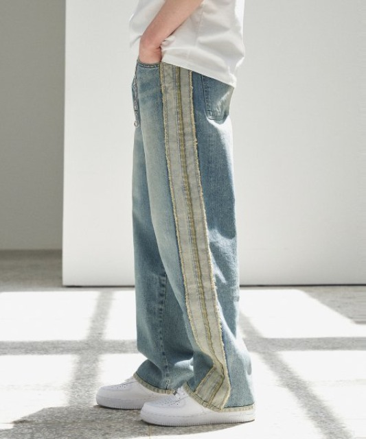 [에드] UGLY LONG WIDE DENIM_VER2 BLUE