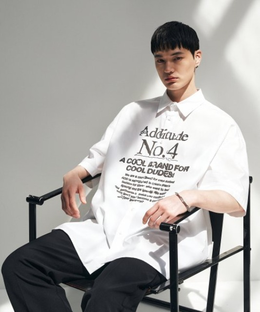 [에드] ADDITUDE No.4 AVANTGRADE SHIRT WHITE [7/17 예약배송]