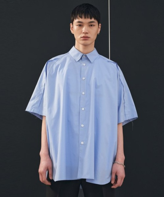 [에드] RAW EDGE AVANTGARDE SHIRT LIGHT BLUE