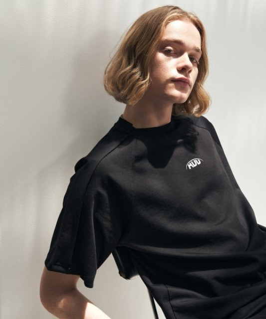 [에드] FOLDED LOGO TEE BLACK