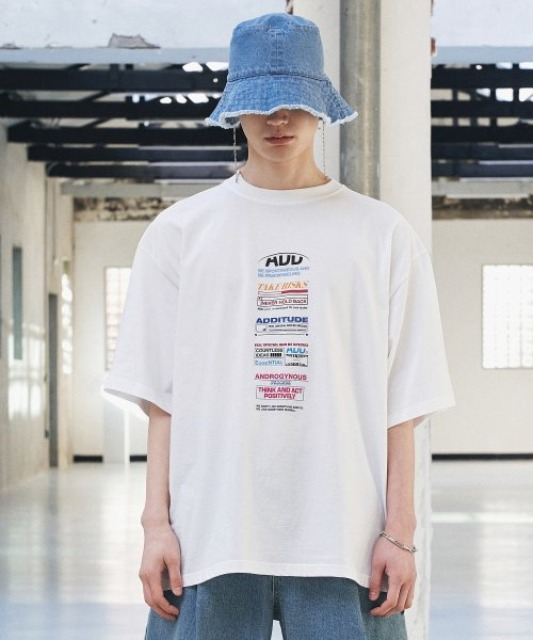 [에드] BACK SLIT AVANTGRADE TEE WHITE