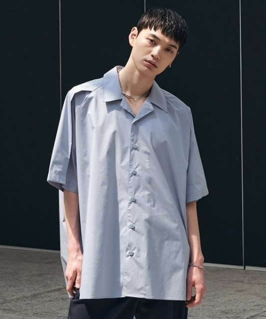 [에드] FOLDED AVANTGARDE SHIRT BLUE GREY
