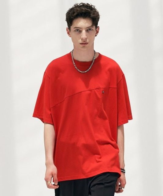 [에드] TWIST PATTERN TEE RED