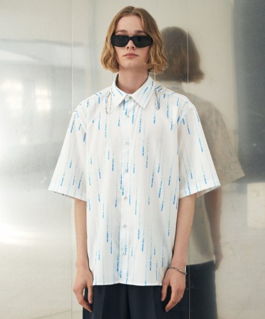 [에드] RAIN GRAPHIC SHIRT WHITE