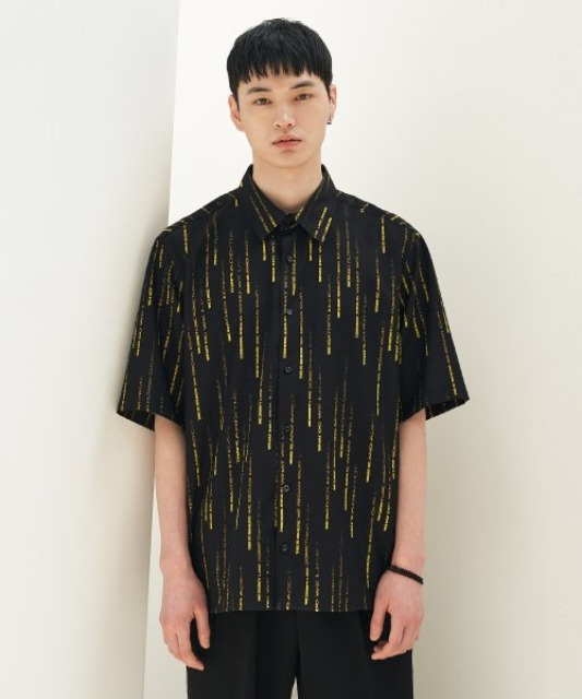 [에드] RAIN GRAPHIC SHIRT BLACK
