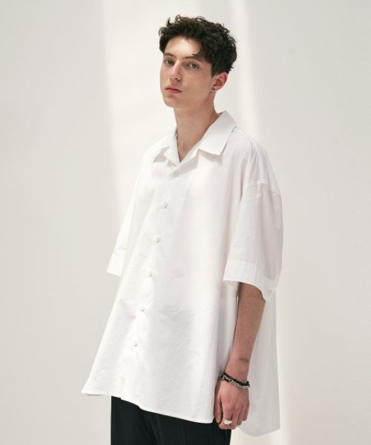 [에드] OPEN COLLAR AVANTGARDE SHIRT WHITE