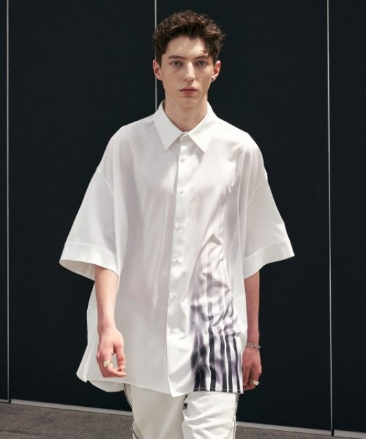 [에드] LOGO DROPPED AVANTGARDE SHIRT WHITE
