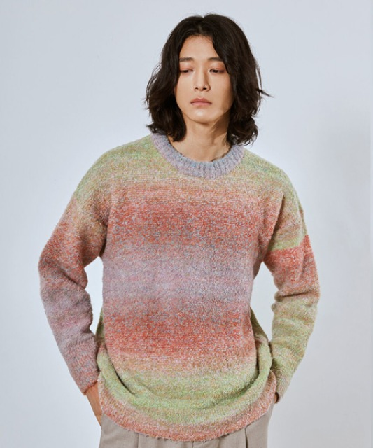 [밈더워드로브] RAINBOW Alpaca Blended Oversized Knit