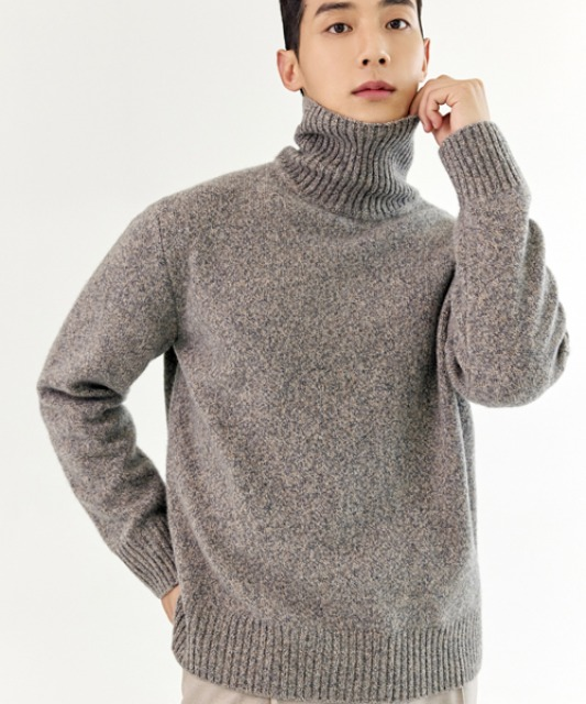 [밈더워드로브] MULTI COLOR Merino Wool Turtle-Neck Knit