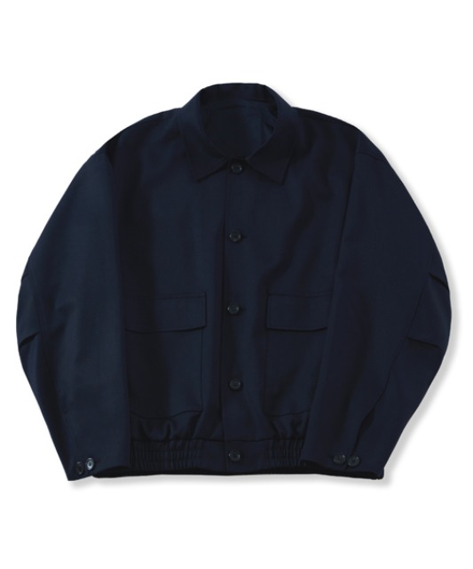 [퍼렌] oversized wool blouson_navy