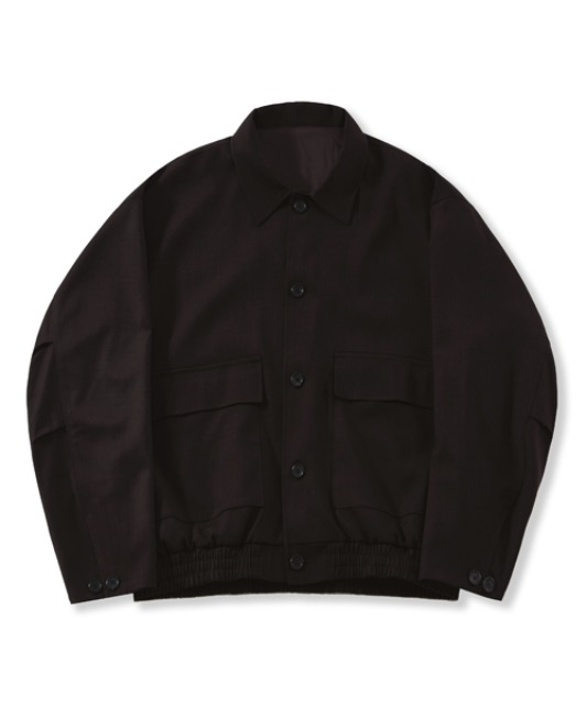 [퍼렌] oversized wool blouson_brown(2tone)