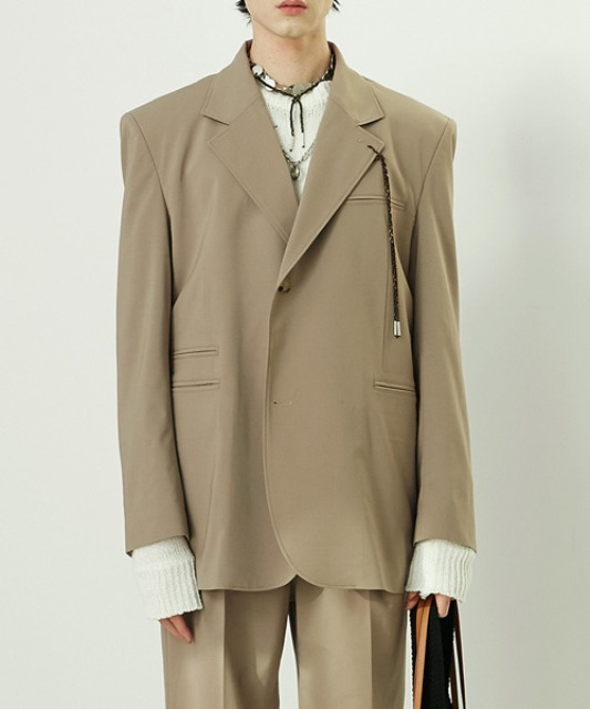 [알렌느] BEIGE half double blazer(NJ033)