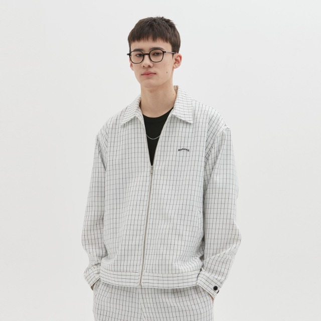 [위캔더스] WINDOW CHECK JACKET (WHITE)