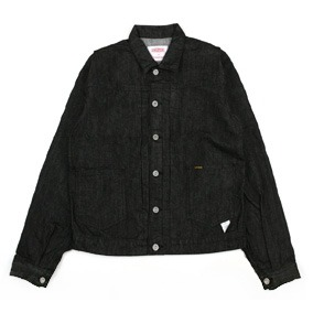 [스웰맙]Swellmob trucker denim jacket-black-