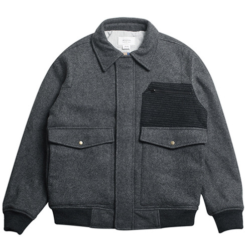 [콰이어티스트]16 Mixed wool Flight Jacket gray