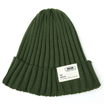 [스웰맙]Swellmob cotton short beanie-olive-
