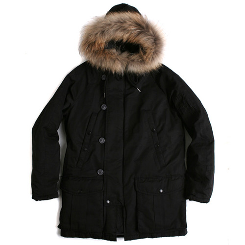 Swellmob 60/40 down cold parka -black-