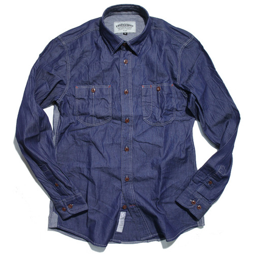 [프리즘웍스]reverse denim shirt _ indigo