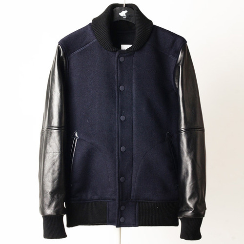 shield varsity JKT -navy-