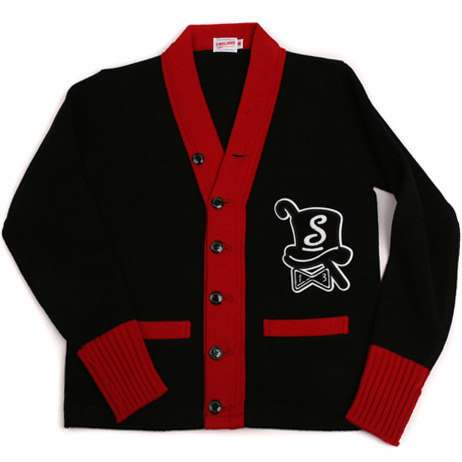 Swellmob emblem patched cardigan -red-