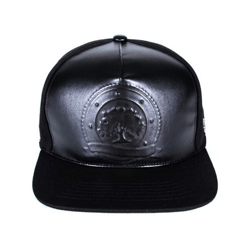 PAPERCODE LOGO LEATHER SNAPBACK