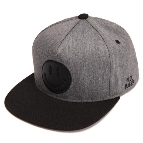 [피스메이커]BLACK HAPPINESS SNAPBACK (GREY MELANGE)