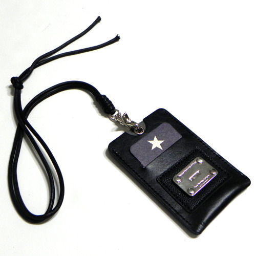 [섹스토][SEXTO']X[YORK FABRIC MFG.COM] Card necklace for Credit card black-무료배송