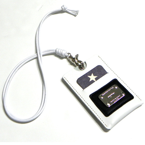 [섹스토][SEXTO']X[YORK FABRIC MFG.COM] Card necklace for Credit card white-무료배송